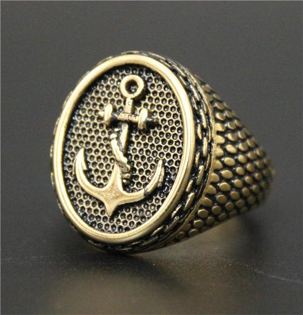 Gold 'Anchor' Ring  Full view