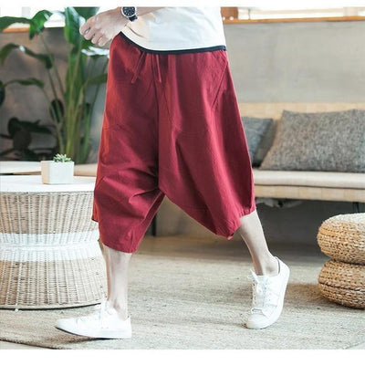 'Manaka' Harem Pants Red