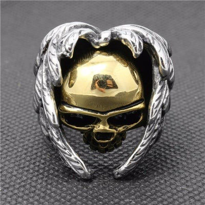 'Golden Skull' Ring Front View