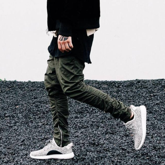Army Green 'Impact zip' Joggers