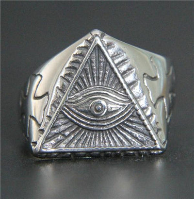 'Vintage Eye' Ring Silver Front View