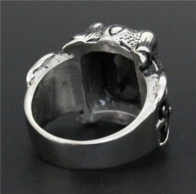 'Biker Stone-Colored' Ring Back View
