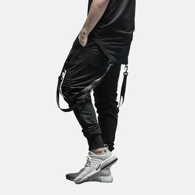 'Classic Suspender' Jogger Pants Side View