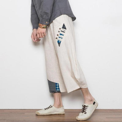 White 'Reo' Harem Pants Side View