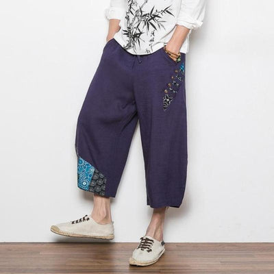 Navy Blue 'Reo' Harem Pants Side view