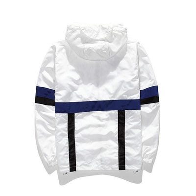 'Life Is Short' Windbreaker White Front