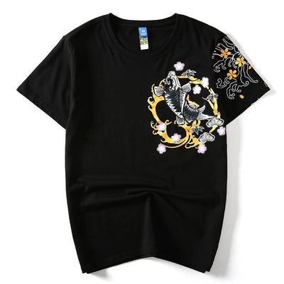 Black Koi T shirt Front