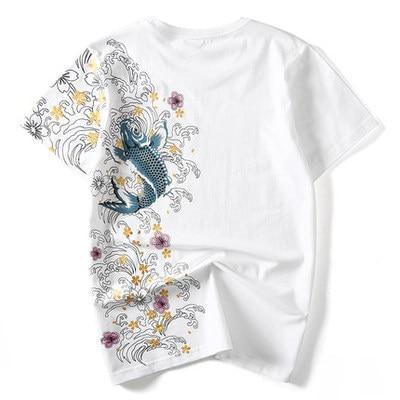 White Koi T shirt Back