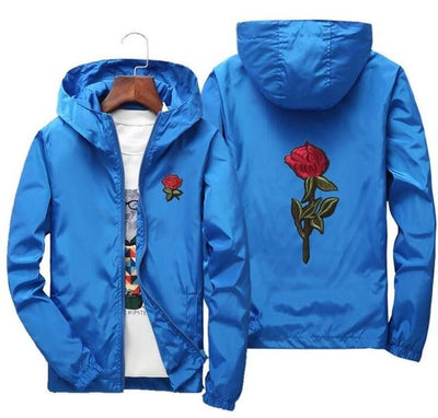 Blue 'Rose' Windbreaker