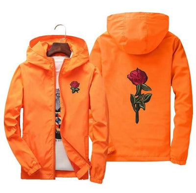 Orange 'Rose' Windbreaker