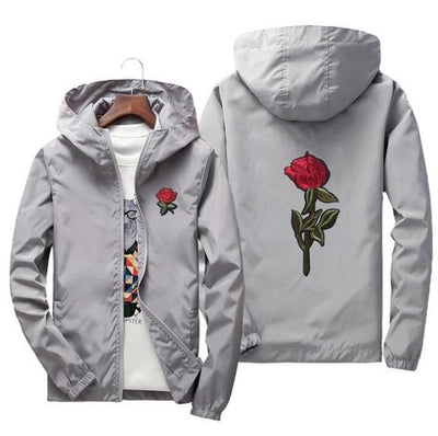 Silver 'Rose' Windbreaker