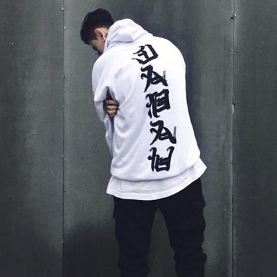 White 'Ghost' Hoodie Full Back View