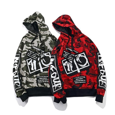 Red and Black 'Fushi' Hoodies