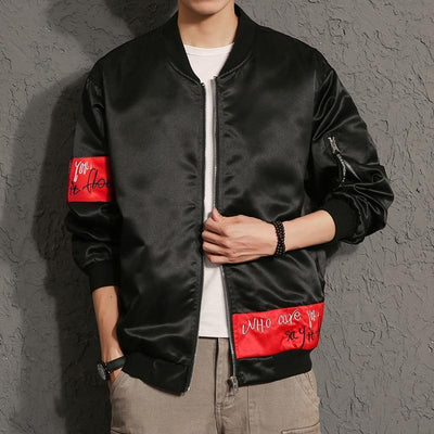 'Rising Jester' Bomber Jacket Front View