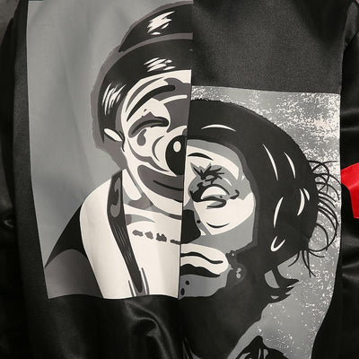 'Rising Jester' Bomber Jacket Closest View