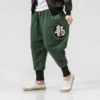 'JOKU' Harem Pants green