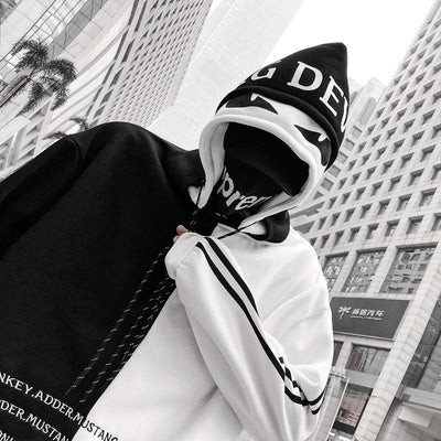 White 'Tmac' Double Hooded Hoodie