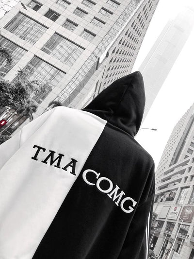 White 'Tmac' Double Hooded Hoodie Back View