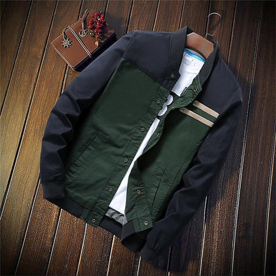 'Vintage Baseball' Green Jacket