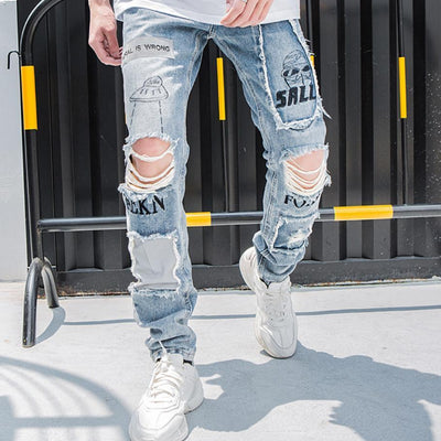 'Alien' Ripped Jeans Full-view