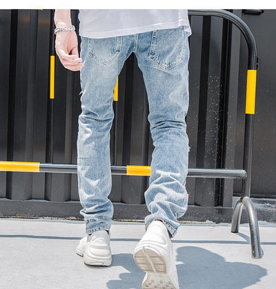 'Alien' Ripped Jeans Back-side View