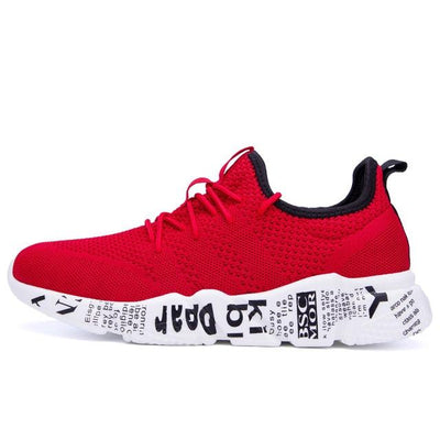 "Red ""Kabuki"" Sneakers Side-view (1)"