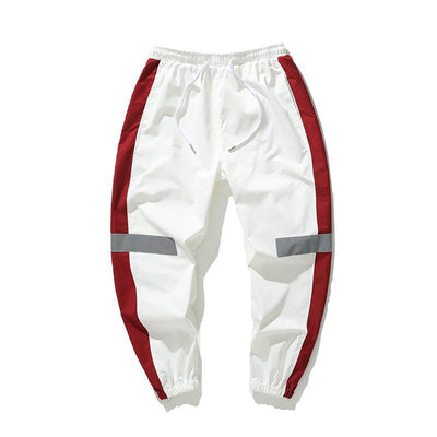 White 'Streamline' Joggers Full Front view
