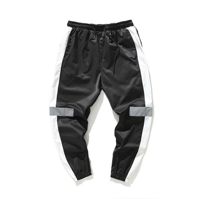 Black 'Streamline' Joggers Front View