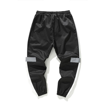 Black 'Streamline' Joggers Full Front View