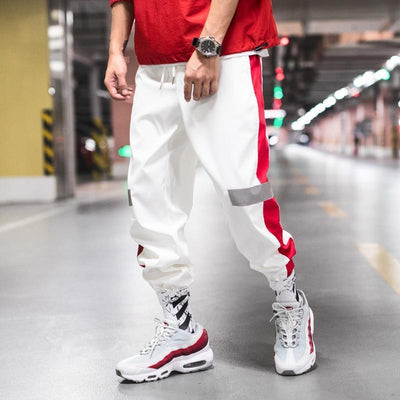 White 'Streamline' Joggers Front View