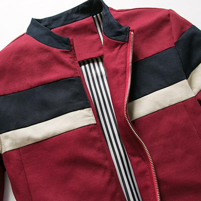 Red Phelan Jacket Closest View