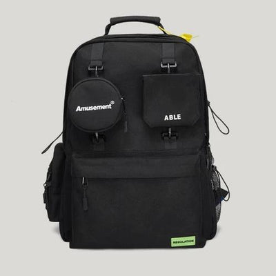 Black ABLE Backpack Front View