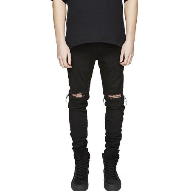 Black 'Slim Ripped' jeans