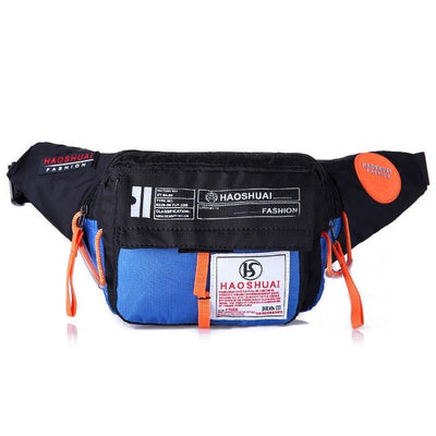 'Industrial Utilitarian' Nylon Waist Bag BLue