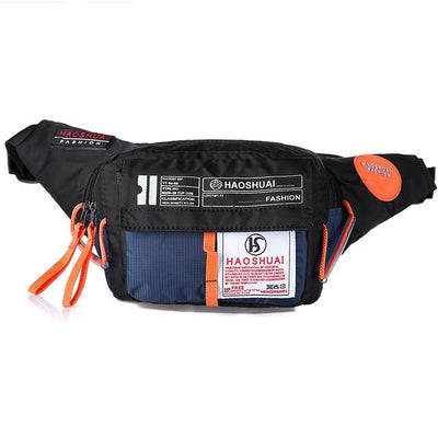 'Industrial Utilitarian' Nylon Waist Bag Navy Blue