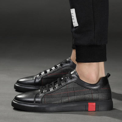 Black 'Aropa' Deluxe Sneakers Full Side View