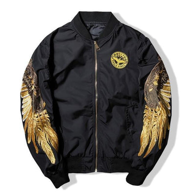 Black 'Archangel' Bomber Full view