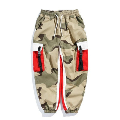Camouflage 'Dedicated' Joggers Front View