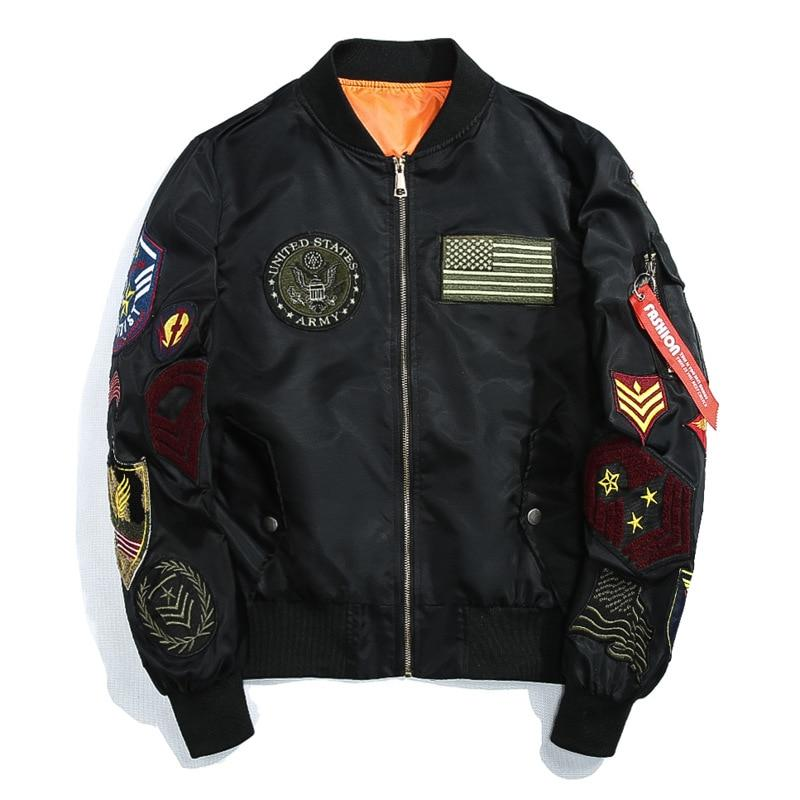 Black 'Army' Bomber Jacket Full View