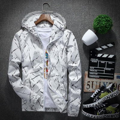 White 'Cryos' Windbreaker Front View