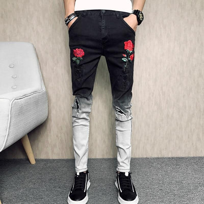 'Roses' Jeans Full View