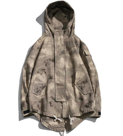 Khaki 'Tactical' Hoodie Front View