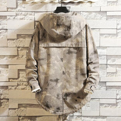 Khaki 'Tactical' Hoodie Back View