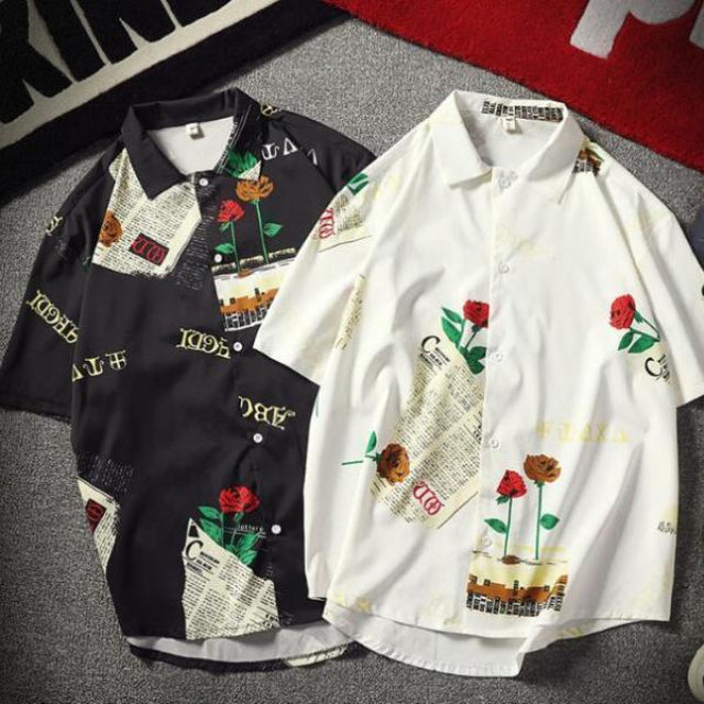White and Black ROSE Kimonos