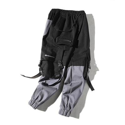 Contrast Panel Cargo Pants Closest view