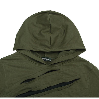 ArmyGreen 'THE KLAW' Hoodie Closest view