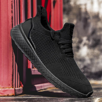 "Black ""Boosted'' Sneakers"