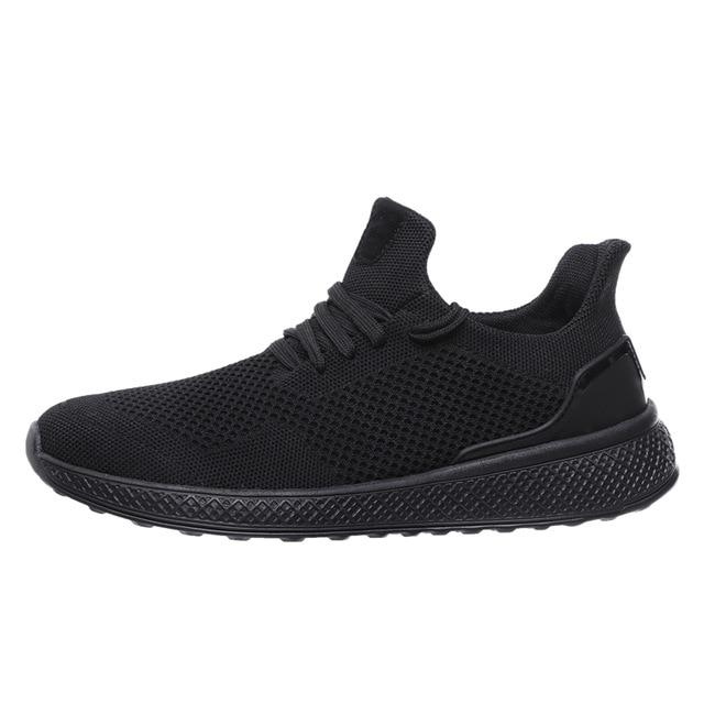 "Black ""Boosted'' Sneakers Side-view"