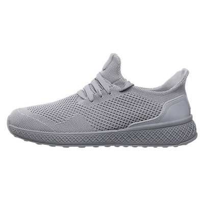 "Gray ""Boosted'' Sneakers Side-view"