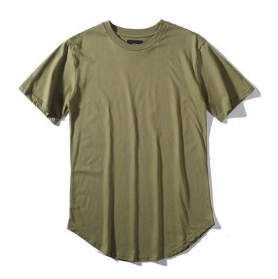 'Plain Scoop' Army Green T-shirt